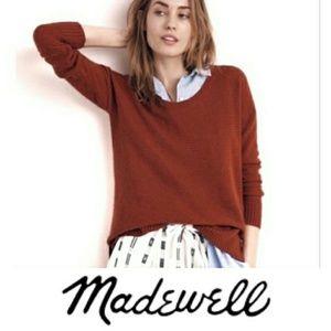 Madewell | Burnt Orange High Low Sweater